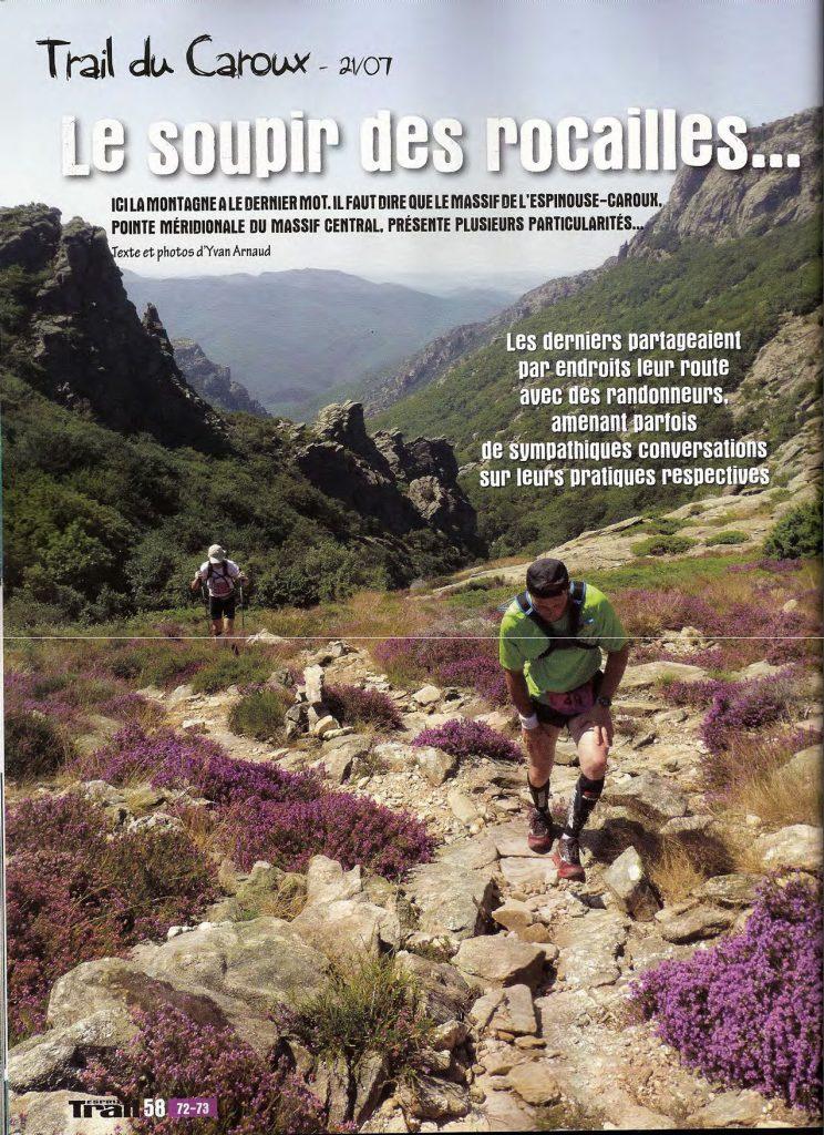 Article Esprit Trail pour le trail du Caroux