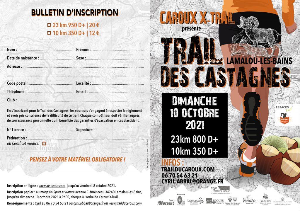 depliant trail castagnes 2021